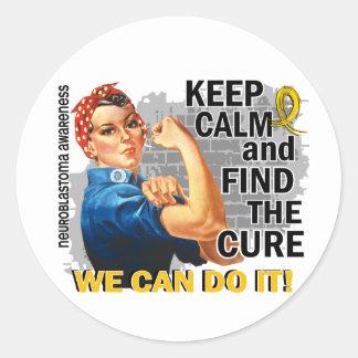 Rosie Keep Calm Neuroblastoma.png Round Sticker
