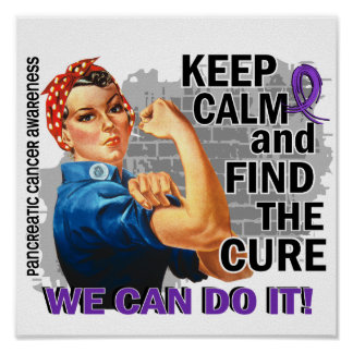 Rosie Keep Calm Pancreatic Cancer.png Poster