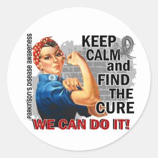 Rosie Keep Calm Parkinsons Sticker