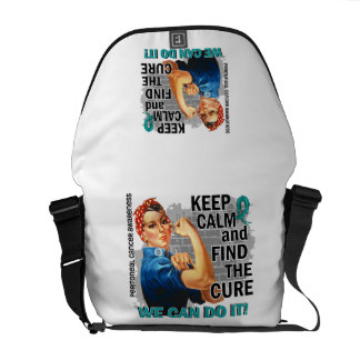 Rosie Keep Calm Peritoneal Cancer.png Courier Bag