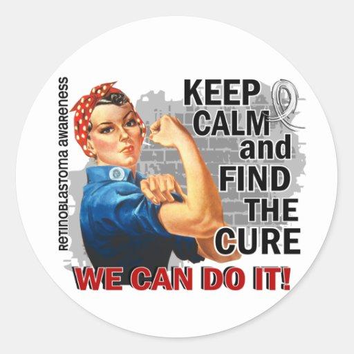 Rosie Keep Calm Retinoblastoma.png Stickers
