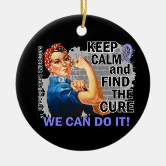 Rosie Keep Calm Thyroid Disease.png Christmas Tree Ornaments