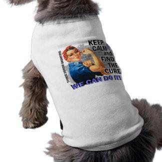 Rosie Keep Calm Thyroid Disease png Doggie Tshirt
