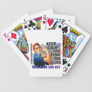 Rosie Keep Calm Thyroid Disease png Poker Deck