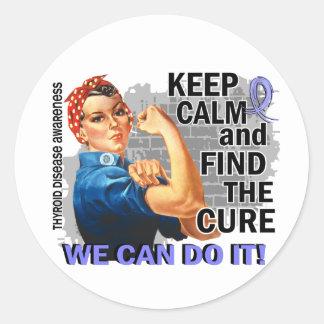 Rosie Keep Calm Thyroid Disease.png Round Sticker