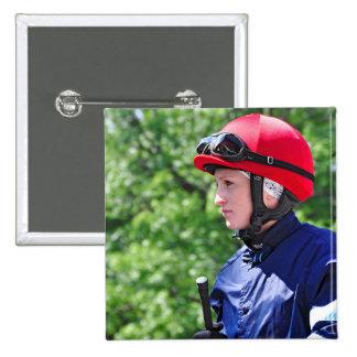 "Rosie Napravnik ""Leading Female Rider"" 15 Cm Square Badge"