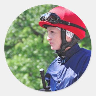 "Rosie Napravnik ""Leading Female Rider"" Round Stickers"