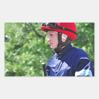 "Rosie Napravnik ""Leading Female Rider"" Rectangle Stickers"