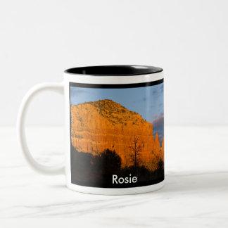 Rosie on Moonrise Glowing Red Rock Mug