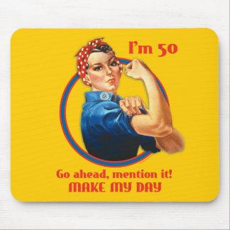 Rosie Riveter 50th Birthday Mousepad