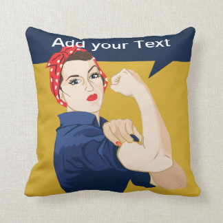 Rosie Riveter Strong Woman Cushion