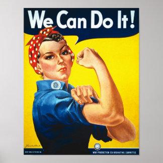 Rosie Riveter Vintage Propaganda Poster