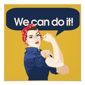 Rosie Riveter We can do it 13 Cm X 13 Cm Square Invitation Card