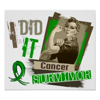 Rosie Sepia I Did It Bile Duct Cancer png Print