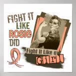 Rosie Sepia Uterine Cancer Posters