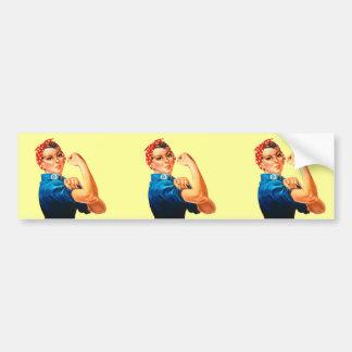 Rosie the Riveter Bumper Sticker