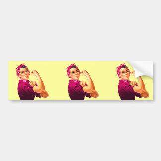 Rosie The Riveter - Cancer Pink Bumper Sticker