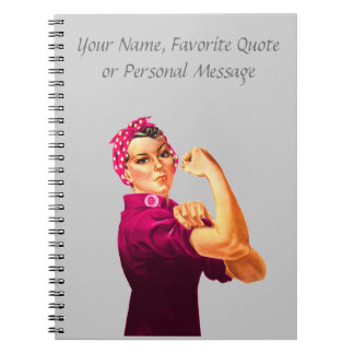 Rosie The Riveter - Cancer Pink Notebook