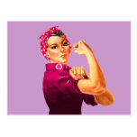 Rosie The Riveter - Cancer Pink Post Cards