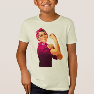 Rosie The Riveter - Cancer Pink T-Shirt