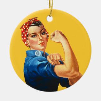 Rosie the Riveter Christmas Ornament