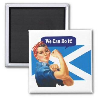 Rosie the Riveter for Scottish Independence Magnet