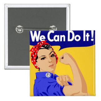 Rosie the Riveter graphic design 15 Cm Square Badge