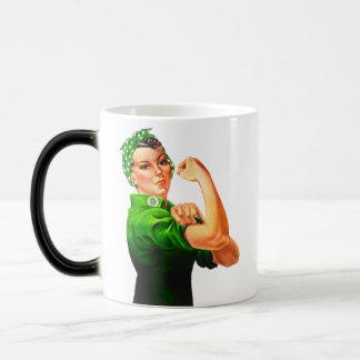 Rosie The Riveter - Green Military Coffee Mugs