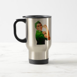 Rosie The Riveter - Green Military Mug