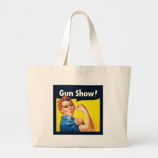 Rosie The Riveter Gun Show Sack Jumbo Tote Bag