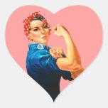 Rosie the Riveter Heart Sticker