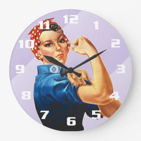 Rosie the Riveter Large Clock