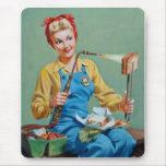 Rosie the Riveter Makes Toasted Cheese Mousemats