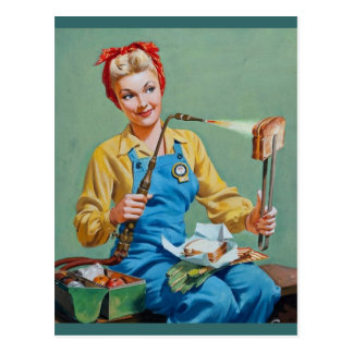 Rosie the Riveter Makes Toasted Cheese Postcards