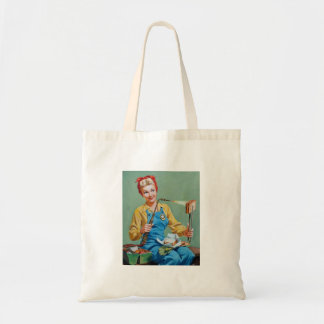 Rosie the Riveter Makes Toasted Cheese Tote Bag