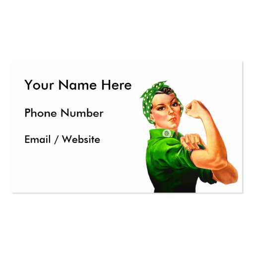 Rosie The Riveter - Military Support Business Card Templates