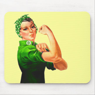 Rosie The Riveter - Military Support Mouse Pads