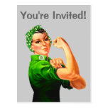 Rosie The Riveter - Military Support Post Card