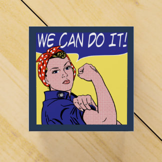 Rosie the Riveter Pop Art We Can Do It Polka Dots Favour Boxes