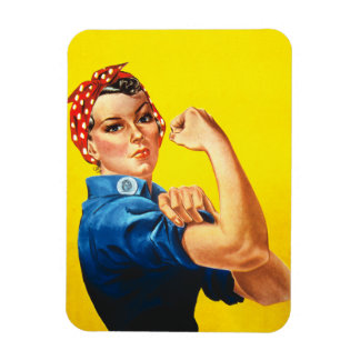 Rosie the Riveter Premium Magnet