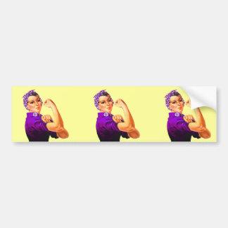 Rosie The Riveter - Purple Fibromyalgia Bumper Sticker