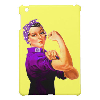 Rosie The Riveter - Purple iPad Mini Cases