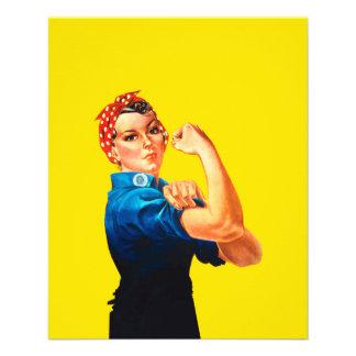 Rosie The Riveter Retro Design Style Flyer