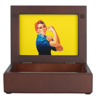 Rosie The Riveter Retro Style Icon Keepsake Box