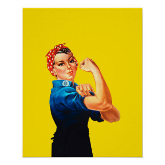 Rosie The Riveter Retro Style Icon Poster