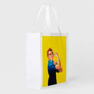 Rosie The Riveter Retro Style Icon Reusable Grocery Bag