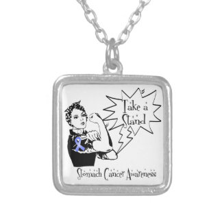 Rosie The Riveter Take a Stand Stomach Cancer Custom Necklace