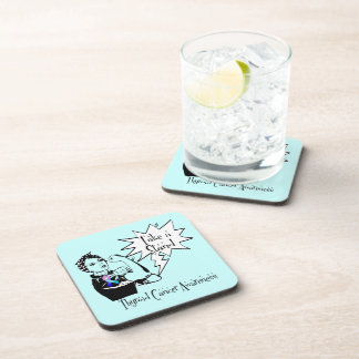 Rosie The Riveter Take a Stand Thyroid Cancer Beverage Coasters