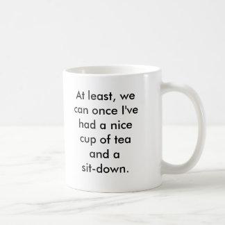 Rosie the Riveter tea break Basic White Mug