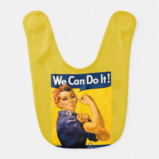Rosie the Riveter Vintage We Can Do It! Bib